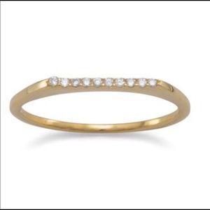 925 Sterling Silver Elegant Stackable Ring 18KGP